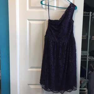 Tevolio purple lace formal/bridesmaid/party dress